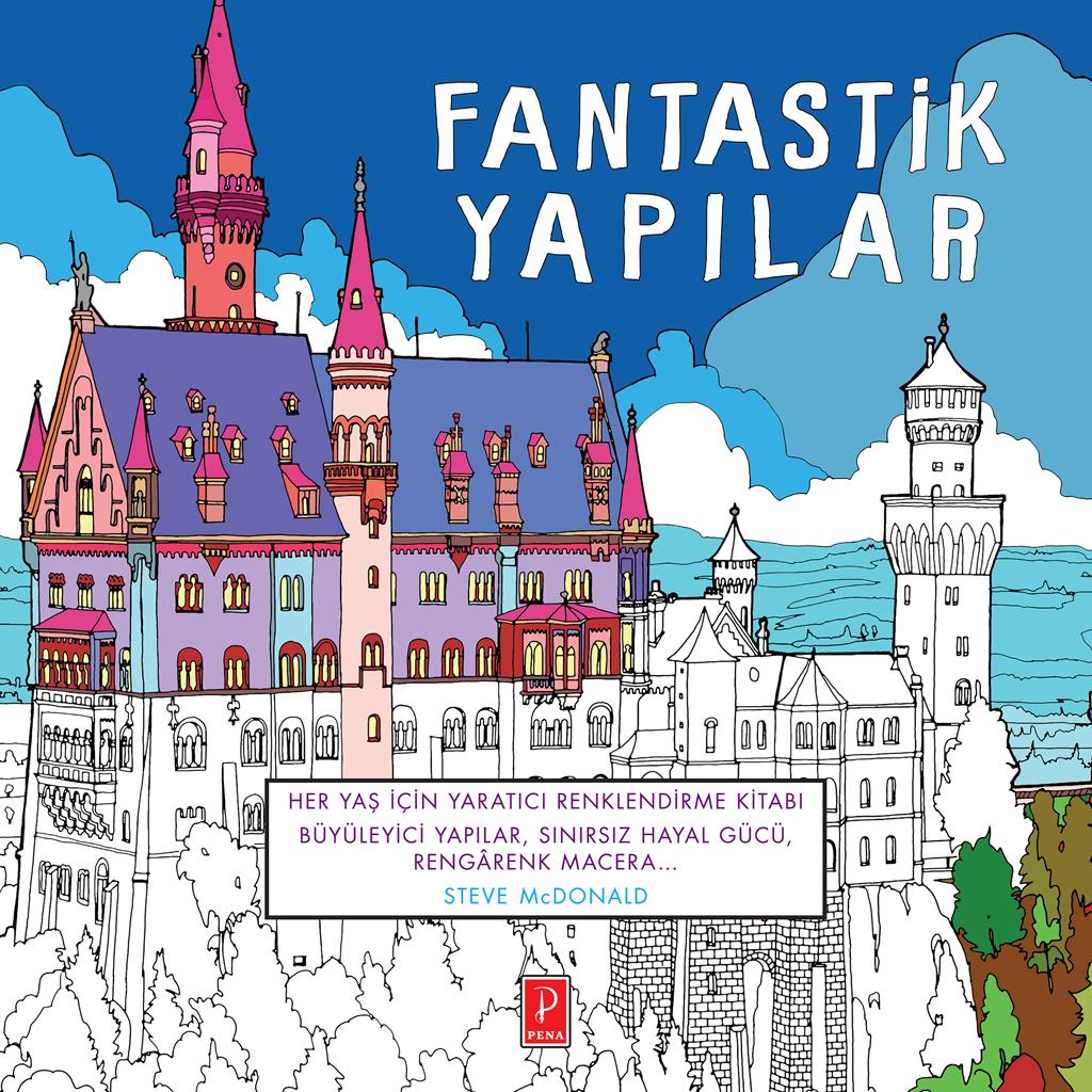 Pena Yayınlarından Yetişkinler Için Boyama Kitabı Fantastik