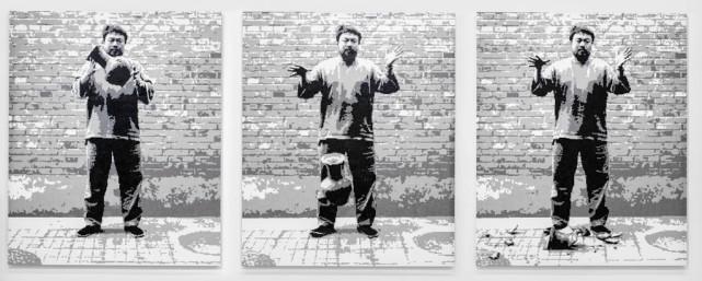 Ai Weiwei Han Hanedanı Vazosunu Düşürmek, 2016 LEGO parçaları Ai Weiwei Studio