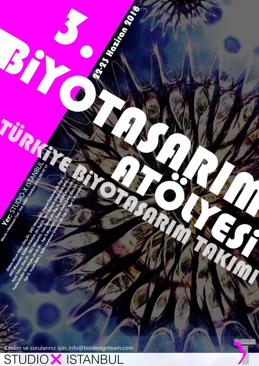 3. BİYOTASARIM ATÖLYESİ, 22-23 Haziran'da (Studio-X İstanbul)'da...