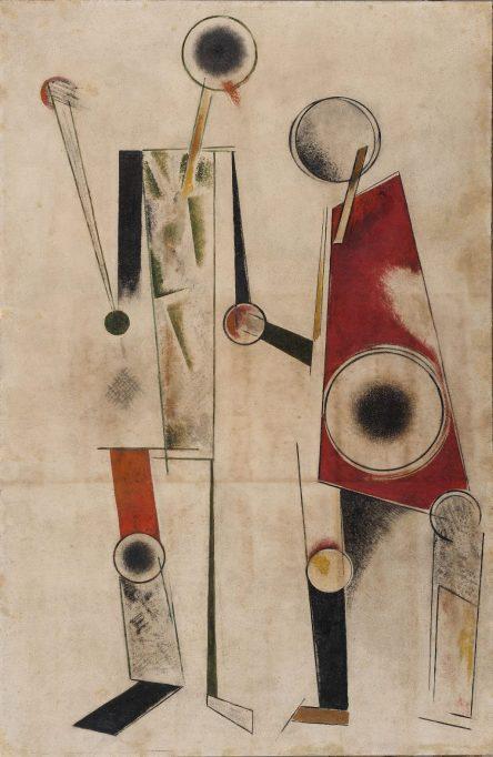 Alexander Rodchenko (1891–1956) Beyaz Üstüne Konstrüksiyon (Robotlar), 1920
