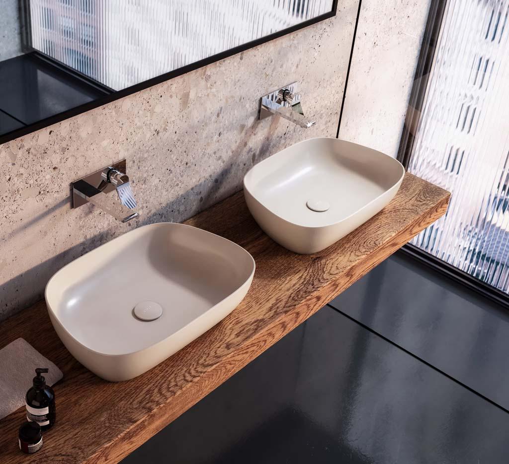 (VitrA) OUTLINE Çanak Lavabolar ile Banyolarda ESTETİK ve MODERN Hava Yaratıyor…