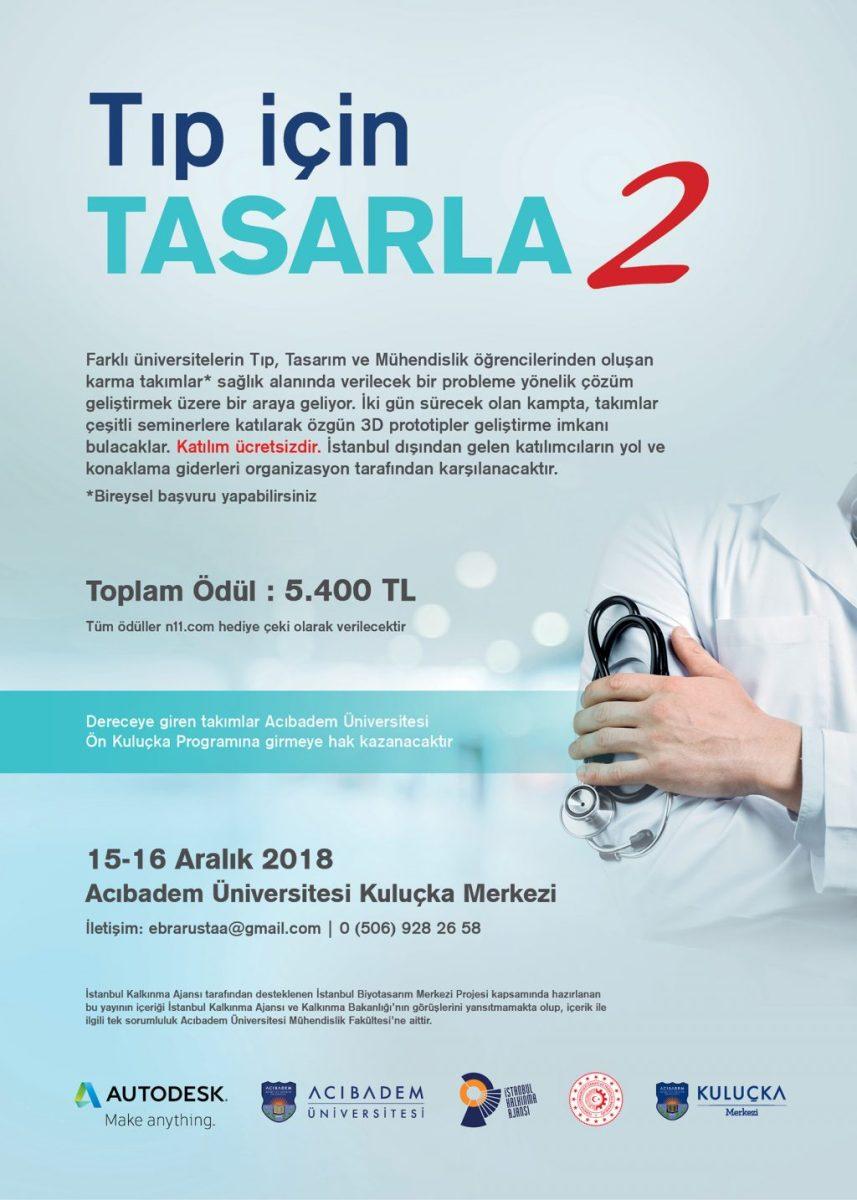 """""""TIP İÇİN TASARLA 2"""" Disiplinlerarası 3D Tasarım Kampı!"""