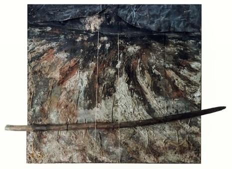 Hüseyin Aksoy, Yerin Göğün Üstünde, 2018, tuval üzerine karışık teknik, 120x120cm