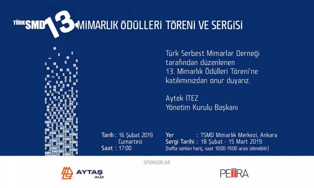 (Türk Serbest Mimarlar Derneği) MİMARLIK ÖDÜLLERİ Bu Sene 16 Şubat'ta Sahiplerini Buluyor…