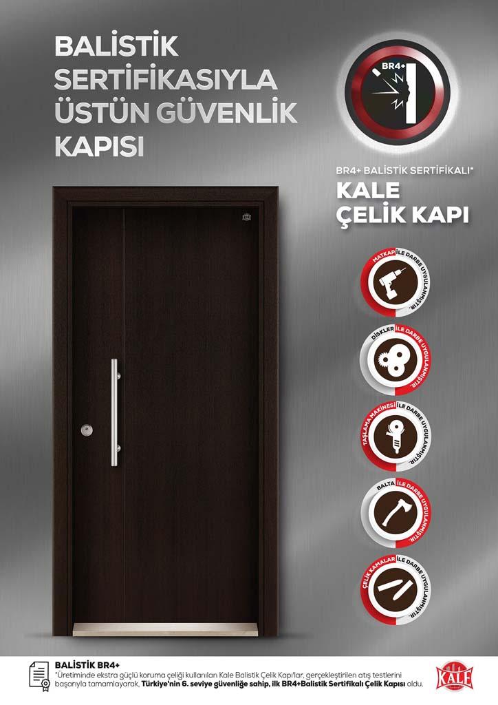 (Kale)'den Türkiye'nin 6. Seviye Güvenliğe Sahip İLK SERTİFİKALI BALİSTİK ÇELİK Kapısı!